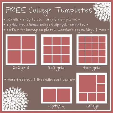 templates for collages in photoshop collage template photo collage template and photo
