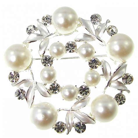 Hochzeit Modeschmuck Perlen by 1 Brosche Anstecknadel Pin Damen Strass Blume Bl 252 Te Perle