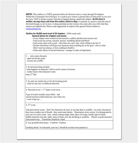 novel template novel outline related keywords novel outline