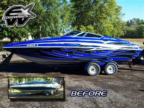 cuddy cabin boat wrap before and after boat graphics pinterest