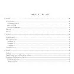 Microsoft Office Table Of Contents Template by Best Photos Of Blank Table Of Contents Blank Table Of
