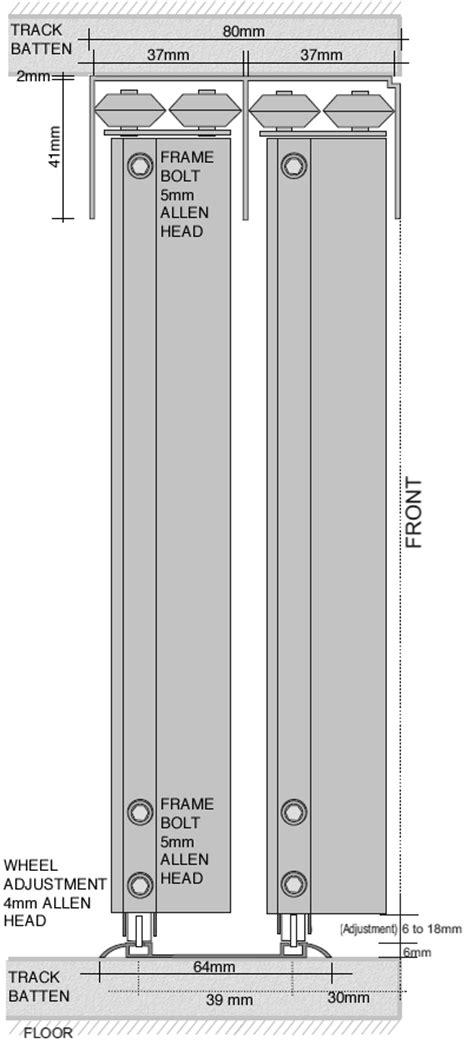Sliding Wardrobe Track by Angled Sliding Wardrobe Doors For Sloping Ceilings