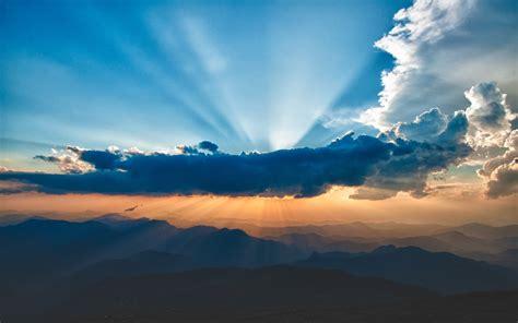 wolken le sunbeams skyscapes wallpaper 1920x1200