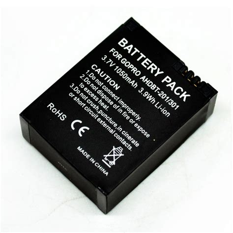 Battery 1050mah For Gopro Hd 3 battery replacement 1050mah for gopro hd 3 ahdbt