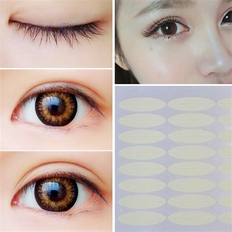 Eyelid Sticker 240 pairs adhesive invisible wide narrow eyelid