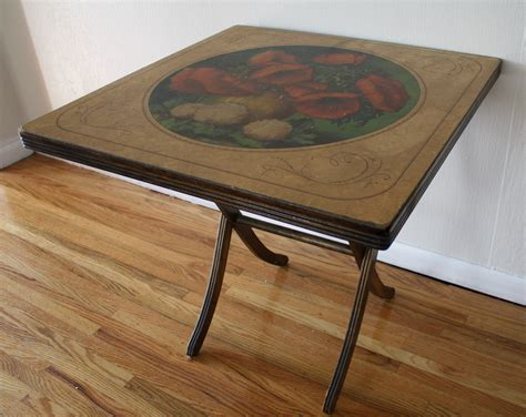 how to make a card table antique vintage painted folding card table picked vintage