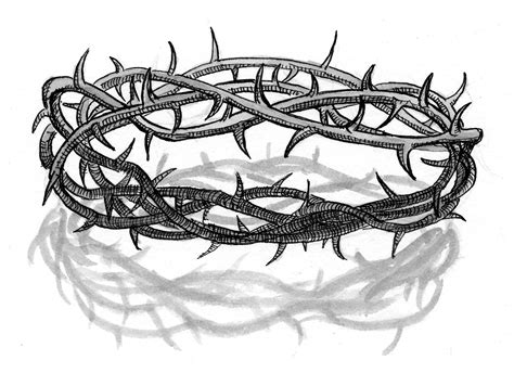 printable picture of crown of thorns matthew 15 17 illustration crown of thorns saint mary