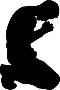 Clipart man kneeling in prayer minus ground silhouette
