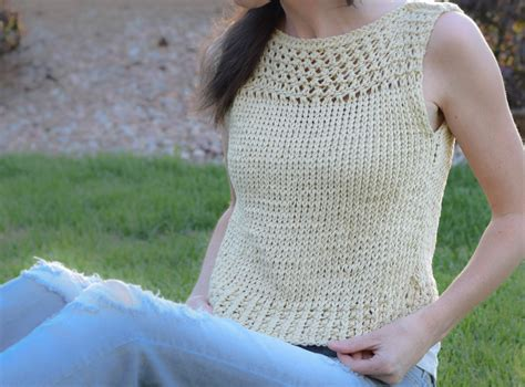 Pattern Knit Top summer vacation knit top pattern in a stitch