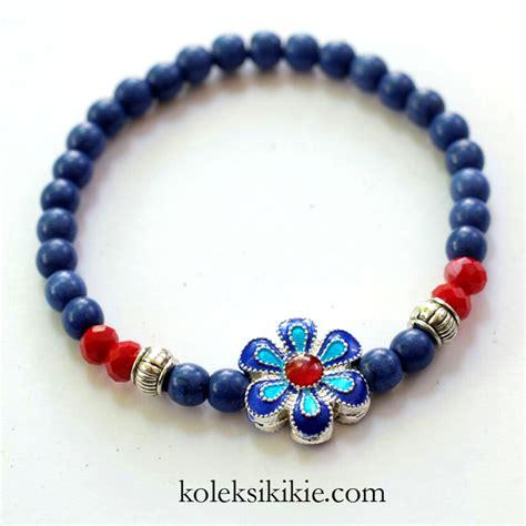 cara membuat gelang manik unik tutorial membuat gelang bunga biru koleksikikie