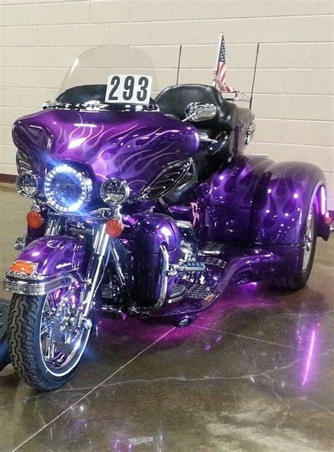 my purple harley davidson custom trike purple custom trikes