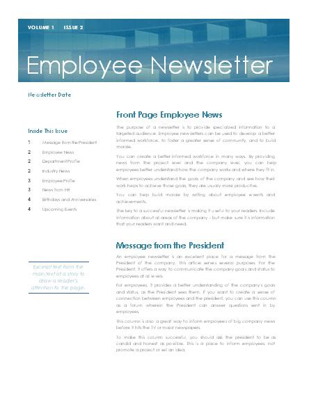 microsoft word free newsletter templates best photos of department newsletter templates microsoft