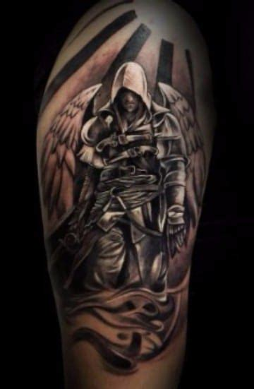 imagenes de tatuajes de warrior grandiosos tatuajes de angeles guerreros en el brazo