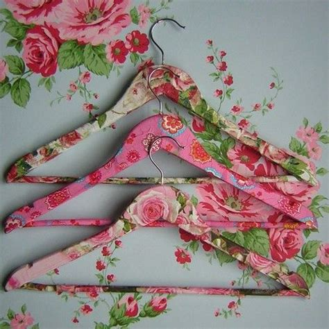 decoupage hanger tutorial prettify your coathangers with a bit of fabric and glue