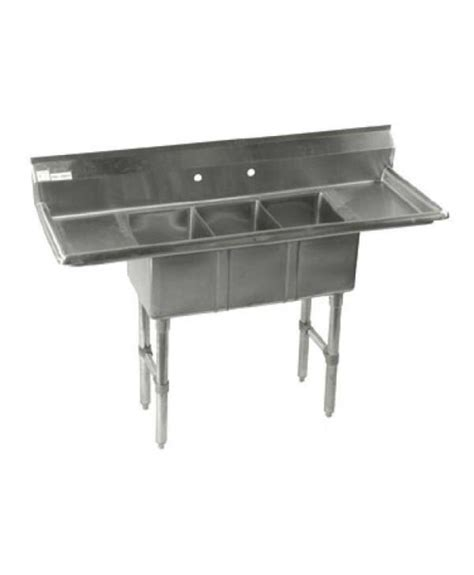3 compartment sink with 2 drainboards 3 compartments sink with 2 drainboards compact