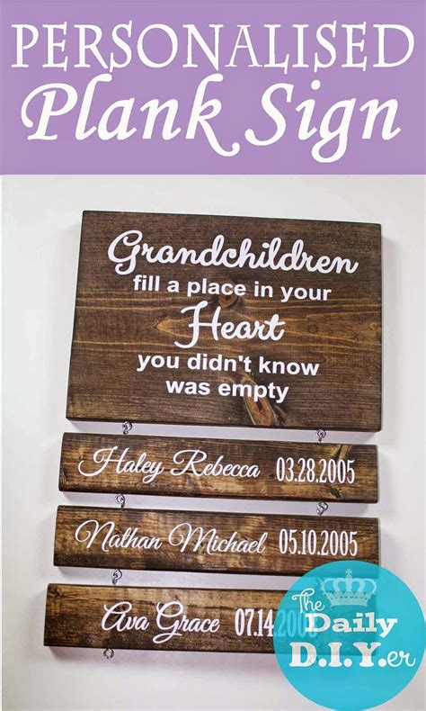 wooden sign with personalized wooden planks would make a