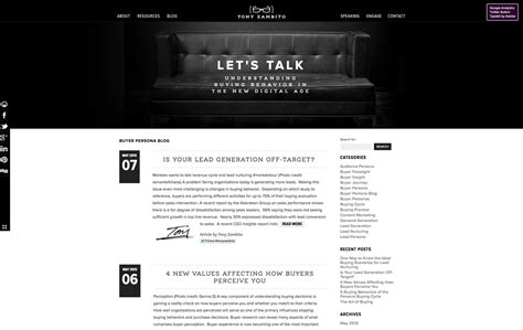 architecture blog cms web design blog web design for tony zambito by