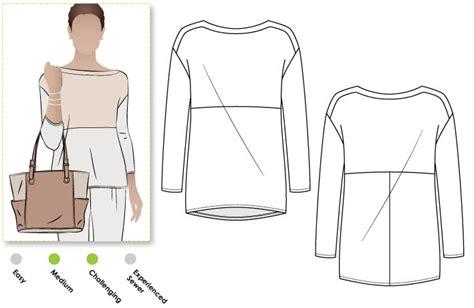 boat neck sewing pattern melinda knit tunic pdf style arc