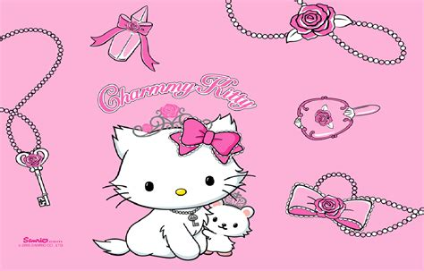 wallpaper hello kitty pink hitam hello kitty wallpapers pink wallpaper cave
