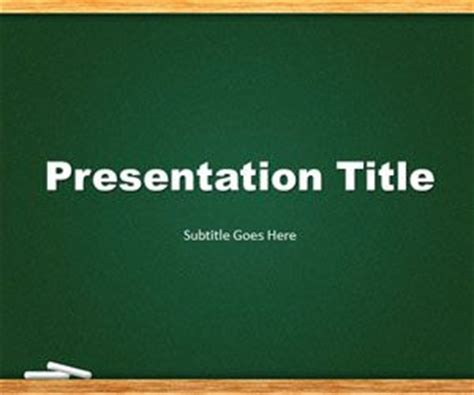 free chalkboard powerpoint templates free ppt