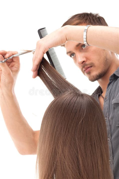 models hair stock photo image professional hairdresser with hair model royalty free