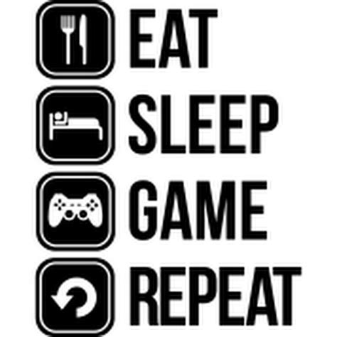 Eat Play Tv Sleep Kaos Gamers gaming lads