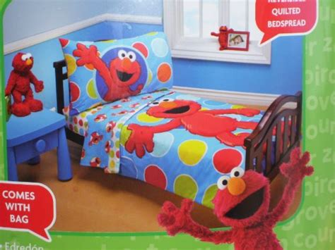 sesame elmo 4 toddler bed set b00666x536