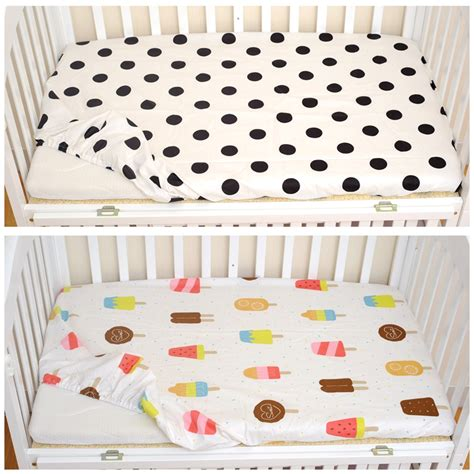 Fitted Sheet 1pcs Cotton Baby Fitted Sheet Cartoon Crib Fitted Sheet For Crib Mattress