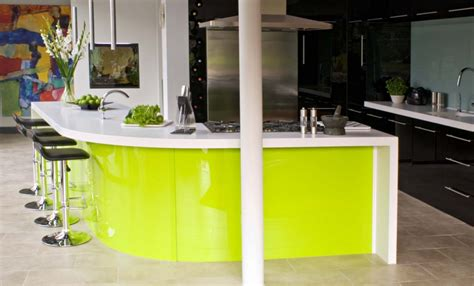 green worktops for kitchens corian 174 worktops in eye catching lime green kitchen by