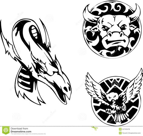 animal tattoo designs royalty free stock photos image