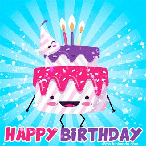 funny animated happy birthday cake gif image   funimadacom