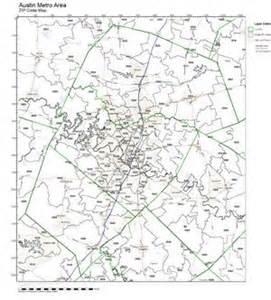 Austin zip code maps
