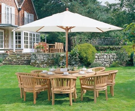 Titan Garden 8 Seater Teak Wooden Patio Dining Set Wooden Patio Dining Set