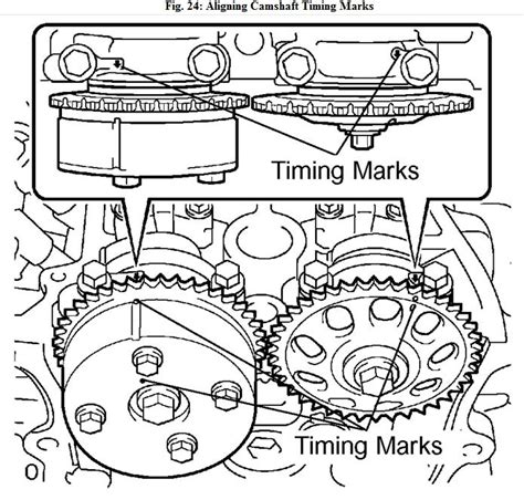 how to set timing marks on a 2009 audi a8 timing mark toyota corolla