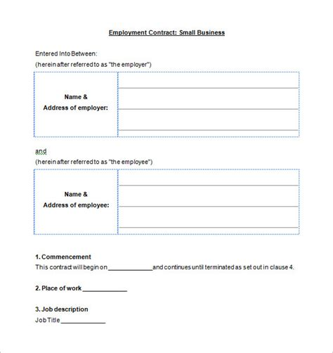 business contract template 10 free word pdf documents