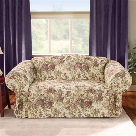 plum sofa throws sure fit chloe plum sofa slipcover home home decor