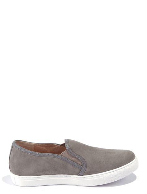 slide on sneakers scoop suede slide on sneakers in gray grey lyst
