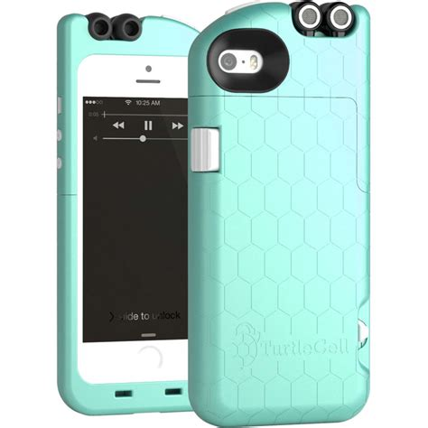 turtlecell for iphone 5 5s aqua blue 09544 pg b h photo