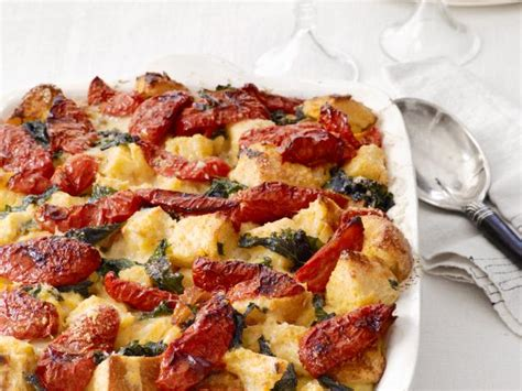 strata recipe sourdough strata with tomatoes and greens recipe food
