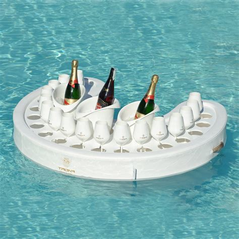 white floating pool bar modern design made in italy by trona