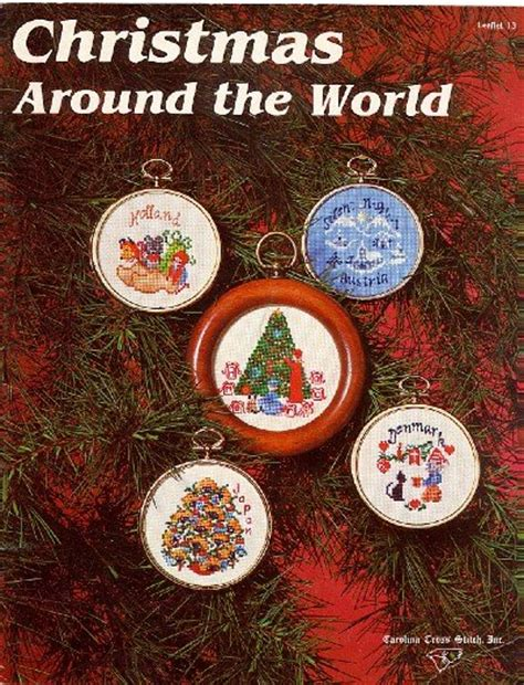 christmas around the world i cross stitch ornaments