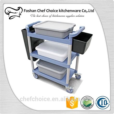 Kitchen Cart Plastic Multifunctional Plastic 3tiers Plastic Food Trolley