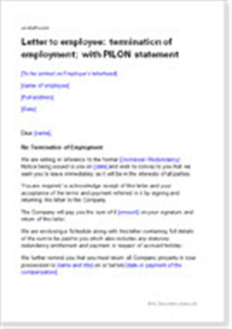 Employment Termination Letter Sle Uk Model Letters Agreements For Ending Employment