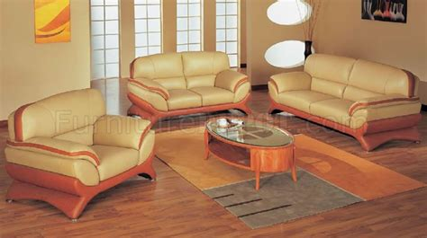 Orange Living Room Sets Orange And Beige Leather Living Room Set