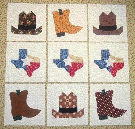 Cowboy Boot Quilt Pattern by 630 Best Quilts Images On