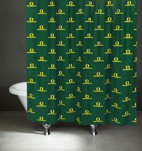 oregon ducks shower curtain ncaa oregon ducks shower curtain bathroom decoration