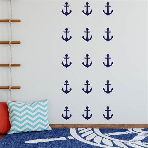 notonthehighstreet wall stickers anchor decorative wall stickers by nutmeg notonthehighstreet