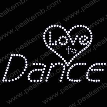 love to dance hotfix rhinestone transfer templates
