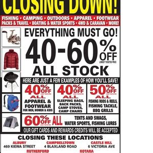 rays outdoors castle hill nsw closing down sale 40 60