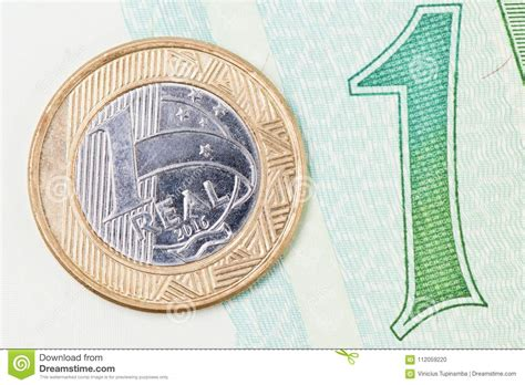 currency brl 1 real stock photo image of brazil currencies